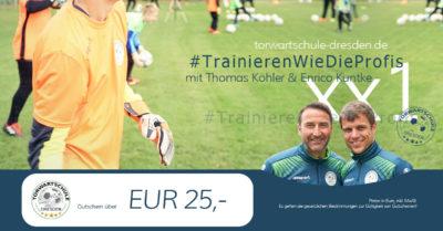 Torwartschule Dresden Gutschein 25 Euro
