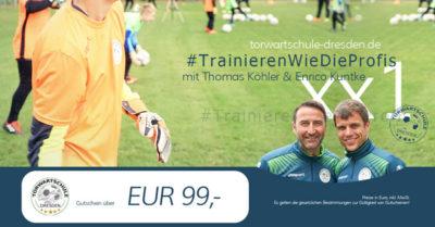 Torwartschule Dresden Gutschein 99 Euro